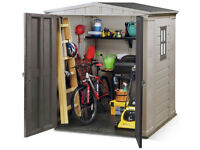 BRAND NEW IN BOX: Keter Apex Garden Shed, 6 x 6ft
