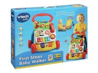 Brand New Sealed Box ✓ Activity Light-Up Baby Walker VTech® My First Step Child Indoor Musical Toy