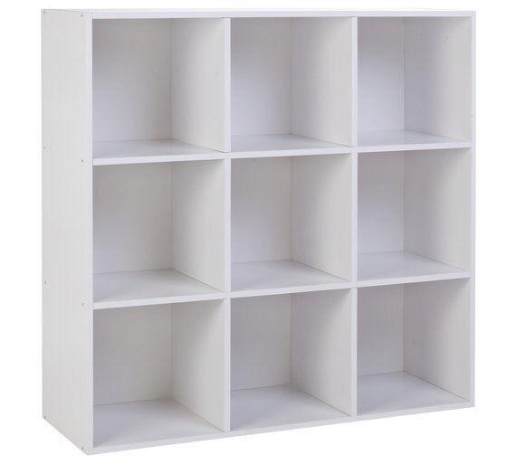 Ex Display Phoenix 9 Cube Storage Unit   White
