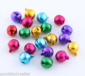 Wholesale Colorful Jingle Bells Beads Charms Christmas Ornament 8mm 10mm 12mm