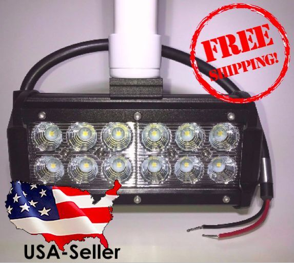 Flounder Gigging Light PVC Head LED 36 Watts 3600 LM 12 volt (Boat, Fishing) 3/4