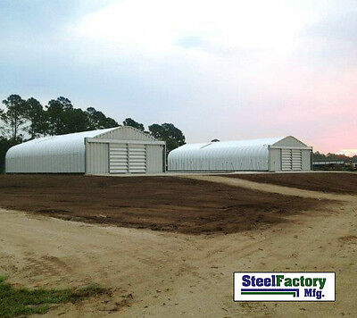 Steel Garage P25x60x13 Metal Storage Building Kit Made In The Usa Factory Direct