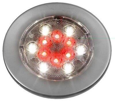 ATTWOOD Warm White Night Red Round 6 LEDs Courtesy Light 3W 12V 100mm Diameter