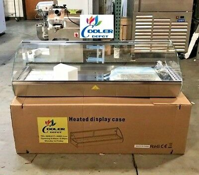 New 44 Dry Warmer 6 Pan Curved Display Case Bakery Deli Hot Food Showcase