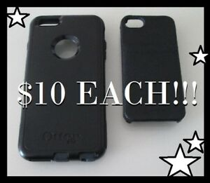 iPhone Cases !! Otter Box + Hex (GENUINE LEATHER) --- $10 EACH!!
