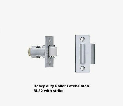 Ives RL32 26D Satin Brushed Chrome Roller Latch & Strike Heavy Duty Solid Brass Chrome Brass Roller Latch