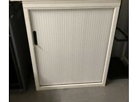 office cabinet white tambour sliding door with shelve
