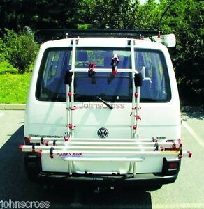 VW T4 Carry Bike Rack Single Door tailgate from FiammaCare Campervan T4 Cycle