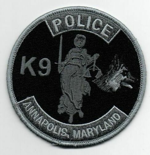 MARYLAND MD ANNAPOLIS POLICE K-9 SUBDUED SWAT STYLE NEW PATCH SHERIFF