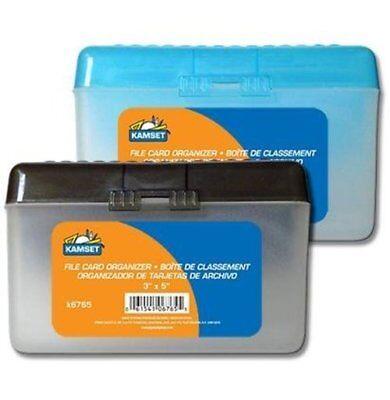 Plastic Index Card Box Flip Top File Box 3 X 5 Inch
