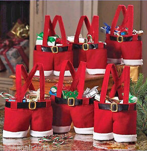 Fantastic Father Christmas/Santas Pants Gift Bag/Small Sack/Stocking Filler