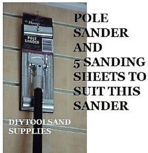 HARRIS PREMIER QUALITY SWIVEL POLE SANDER PLASTERING SANDING BOARD & 5 SHEETS
