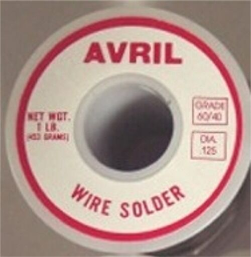 1 Lb 60/40 Avril Premium Stained Glass Solder - Made in USA! Best Quality
