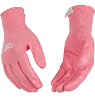 Womens Kinco Pink Nitrile Coated Chore Garden Work Gloves Choose Size S M L