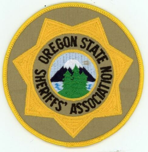 OREGON OR STATE SHERIFFS ASSOCIATION NEW PATCH POLICE 4 INCHES