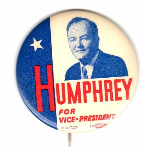 1956 Humphrey For Vice President Campaign Button
