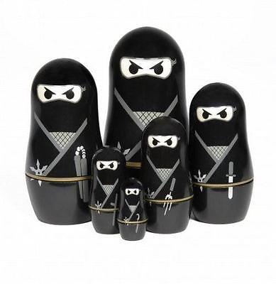 Thumbs Up Ninja Matryoshka Dolls Russian 6 Piece Ninja Warrior Nesting Dolls
