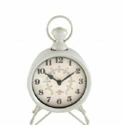 Westclox Charming White Battery Operated Analog Metal Table Clock USA Seller