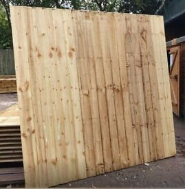 HEAVY DUTY VERTICAL BOARD FEATHER EDGE TANALISED PRESSURE TREATED GARDEN FENCE PANELS