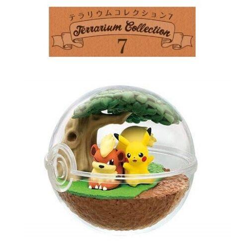 RE-MENT Pokemon Terrarium Collection 7 Poke Ball Case Figure Pikachu & Growlithe
