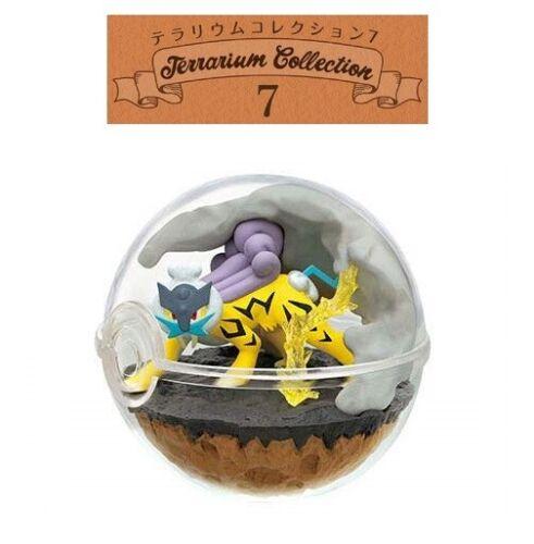 RE-MENT Pokemon Terrarium Collection 7 Poke Ball Case Toy Figure 4 Raikou NEW