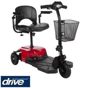 NEW DRIVE MEDICAL BOBCAT X3 SCOOTER COMPACT - POWER MOBILITY SCOOTER - 3 WHEEL - RED HEALTHCARE MOBILITY DEVICE