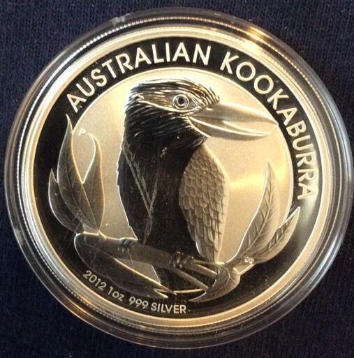 2012 Australia Kookaburra 1 Ounce Silver $1 Coin
