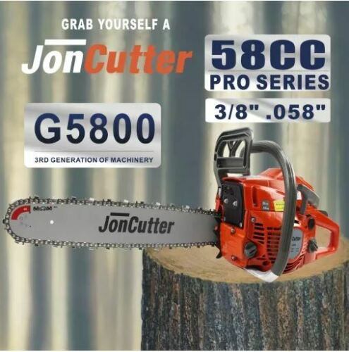 58cc JonCutter Gasoline Chainsaw Power Head 20 Inch Bar/Chain Included Wagners