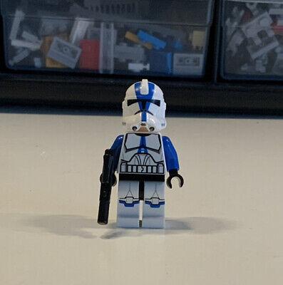 LEGO STAR WARS 501ST LEGION CLONE TROOPER MINIFIGURE w/ Blaster!