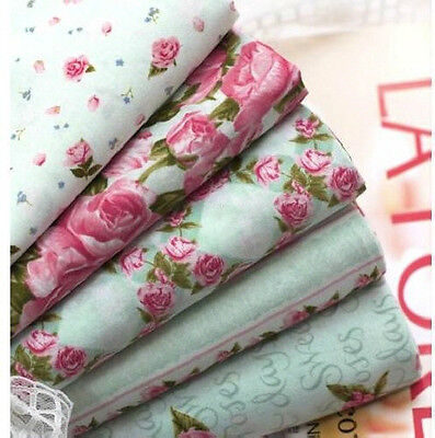 ROSE 4PATTERN 100% COTTON QUILT SEWING HOME DECO FABRIC 1YARD