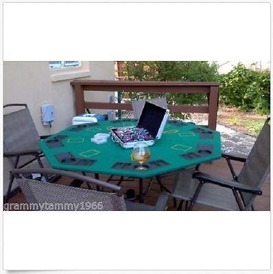 Octagon Poker Table Top Blackjack Trademark Folding Chip Tray Deluxe Storage - Blackjack Table Top