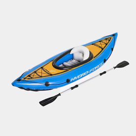 Hydro-Force, Cove Champion inflatable Kayak. With Paddle and Pump