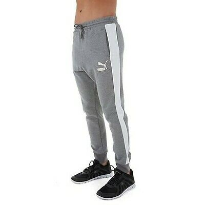 PUMA mens track pants joggers trousers bottoms S M L XL slim skinny fit grey