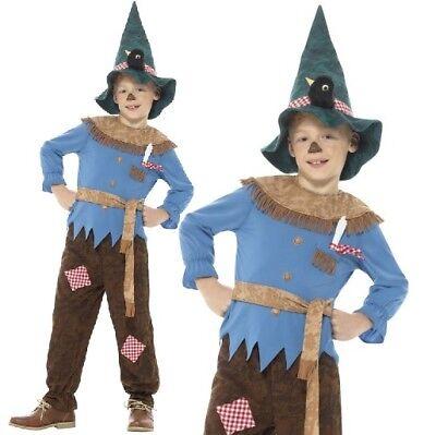 Kinder Jungen Patchwork Vogelscheuche Kostüm & Hut oz neu von Smiffys ()