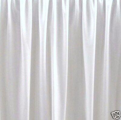 """21 """" King White Bedskirt Or Dust Ruffle Split Corners"""