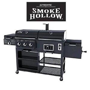 NEW* SMOKE HOLLOW BARBECUE GRILL - 129100919 - LP GAS CHARCOAL SMOKER SEARING