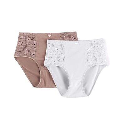 Kathy Ireland Panties Plus-size Womens 2pack Microfiber Lace Underwear Assorted