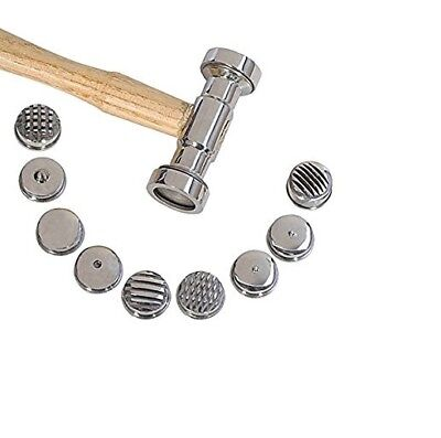 Texturing Hammer W 9 Interchangeable Faces Jewelry Forming Tool