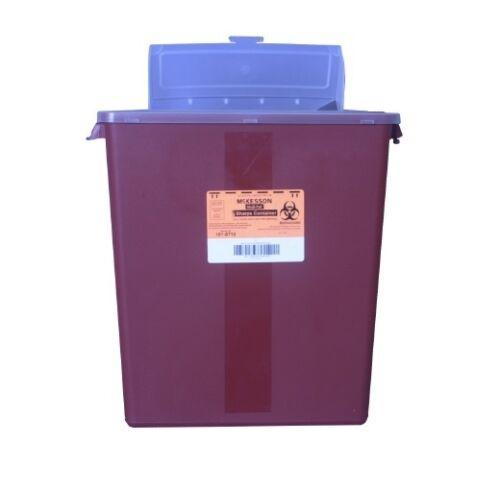 12 x Multi-purpose Sharps Container 2-Piece 3 Gallon Red Base
