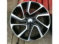 """x4 22"""" Discovery 5 Style Alloy Wheels Black Range Rover Vogue Sport Disco 3/4/5"""