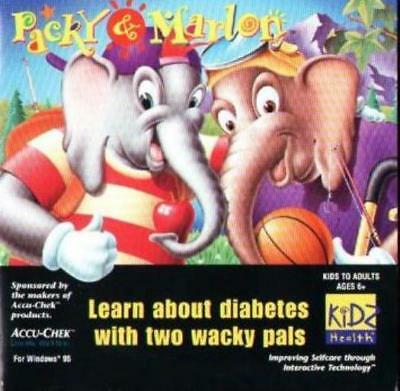 Packy & Marlon PC CD children learn about diabetes wacky pals elephants game!