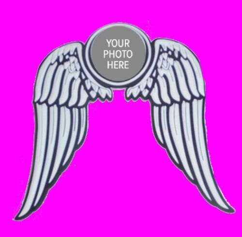 Custom Photo Angel Wing Love Sticker Magnet Picture Picture Car Auto Motorcycle
