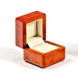 Luxury real wood walnut proposal ring box Engagement Recommended by Sharon Cox