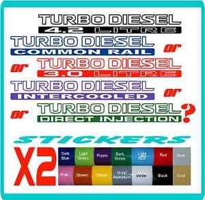 Turbo Diesel stickers Nissan Patrol, Toyota Landcruiser - 16 colours. Cruiser
