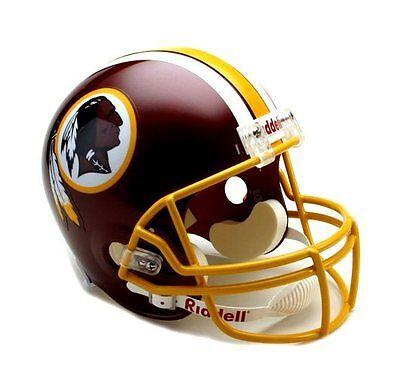 Washington Redskins Team Helmet (Washington Redskins NFL Team Logo Riddell Deluxe Full Size Football)