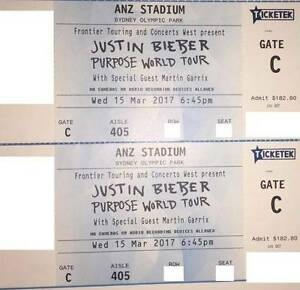 JUSTIN BIEBER TICKETS - SYDNEY - A RESERVE - PURPOSE WORLD TOUR 2 Hillsdale Botany Bay Area Preview