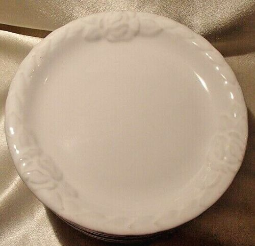 """Christian Dior French Country Rose Oyster White 8"""" Luncheon Salad Plates 1-10"""