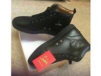 New men's black leather Louboutin