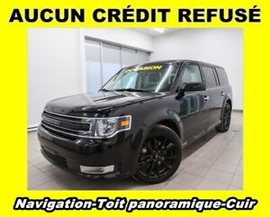 2017 Ford Flex SEL AWD CUIR 7 PASSAGERS TOIT PANO  *NAVIGATION*