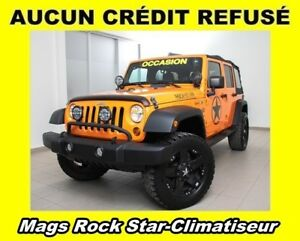 2013 Jeep WRANGLER UNLIMITED SPORT 4X4 CLIMATISEUR *MAGS ROCK ST